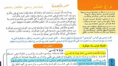 Photo of الكتابة والنشيد الوحدة الرابعة وجدت طريقي لغة عربية صف ثالث فصل ثاني