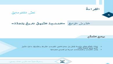 Photo of حل درس المسجد النبوي تاريخ يتجدد لغة عربية صف سادس فصل ثاني