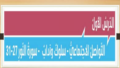 Photo of حل درس التواصل الاجتماعي سلوك وآداب تربية إسلامية صف ثاني عشر فصل ثاني