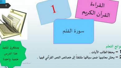 Photo of صف عاشر الفصل الثاني لغة عربية حلول درس سورة القلم
