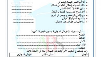 Photo of صف سابع فصل ثاني لغة عربية ورق عمل أسلوب الأمر