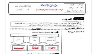 Photo of صف سابع فصل ثاني علوم حلول الوحده السادسة من دليل الأنشطة
