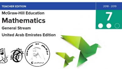Photo of دليل المعلم رياضيات منهج إنجليزي صف سابع فصل ثاني