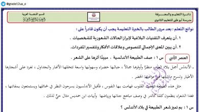 Photo of حل درس نثر الجو برد لغة عربية صف ثاني عشر فصل ثاني