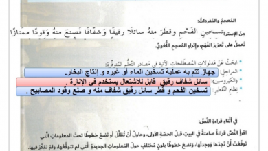 Photo of حل درس تاريخ التدفئة لغة عربية صف سابع فصل ثاني