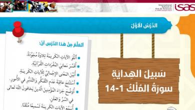 Photo of صف سادس فصل ثاني تربية إسلامية حلول درس سبل الهداية سورة الملك