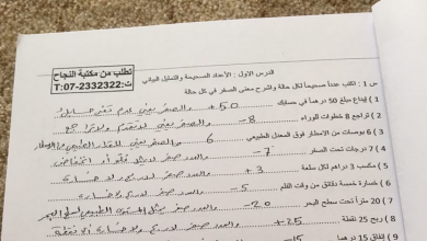 Photo of صف سادس فصل ثاني ملزمة رياضيات مع الحل