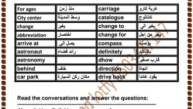Photo of صف سابع فصل ثاني لغة إنجليزية ملزمة شاملة الوحدة السادسة والسابعة