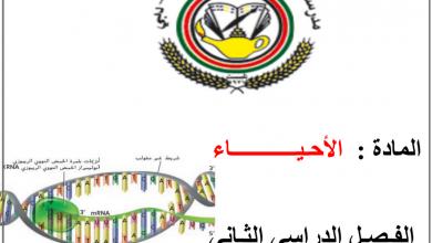 Photo of صف ثاني عشر متقدم فصل ثاني أحياء ملخص الوحدة الثانية علم الوراثة الجزيئية