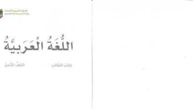 Photo of صف ثامن فصل ثاني كتاب الطالب لغة عربية 2019