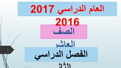 Photo of صف عاشر لغة عربية حل دروس الفصل الثاني