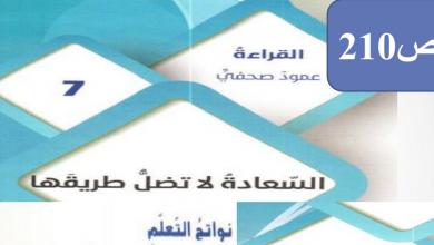 Photo of صف تاسع فصل ثاني لغة عربية السعادة لا تضل طريقها