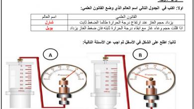 Photo of صف تاسع فصل ثاني علوم  مراجعة درس سلوك الغازات مع الأجوبة