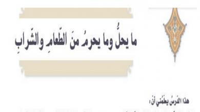 Photo of صف تاسع فصل ثاني تربية إسلامية حل ما يحل وما يحرم من الطعام