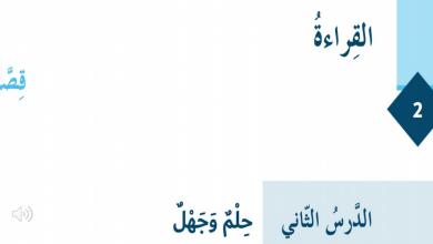 Photo of حل درس حلم وجهل لغة عربية صف سادس فصل ثاني