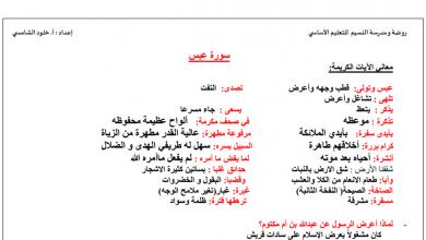 Photo of تلخيص شامل الفصل الثاني تربية إسلامية صف خامس