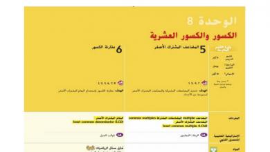 Photo of دليل المعلم رياضيات محلول وحدة  الكسور والكسورالعشرية صف خامس فصل ثاني
