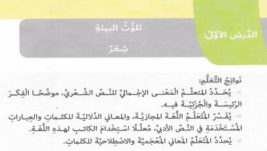 Photo of تلوث البيئة لغة عربية صف سادس فصل ثاني
