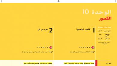 Photo of دليل المعلم رياضيات الوحدة 10 الكسور محلول صف ثالث فصل ثاني
