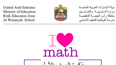 Photo of مذكرة مراجعة الفصل الثاني رياضيات صف أول.