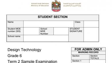 Photo of نموذج امتحان مع الإجابات تصميم وتكنولوجيا صف سادس فصل ثاني