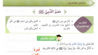 Photo of صبر النبي مع الحل تربية إسلامية صف رابع فصل ثاني