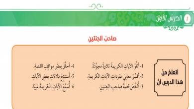 Photo of حل درس صاحب الجنتين تربية إسلامية صف عاشرفصل ثاني