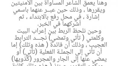 Photo of شرح قصيده الطين لغة عربية صف حادي عشر فصل ثاني