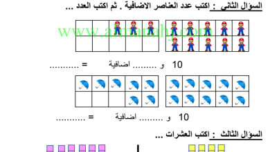Photo of صف أول فصل ثاني رياضيات اختبار أول