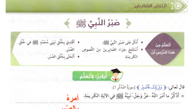 Photo of صف رابع فصل ثاني تربية إسلامية حل درس صبر النبي