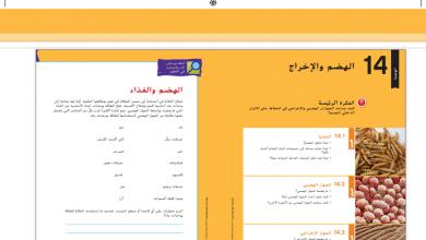 Photo of صف ثامن فصل ثاني دليل المعلم علوم الوحدة السادسة الهضم والإخراج