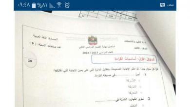 Photo of صف ثالث لغة عربية امتحان نهاية الفصل الثاني 2018