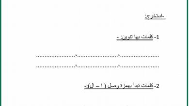 Photo of صف ثالث فصل ثاني لغة عربية أوراق عمل الوحدة الثالثة