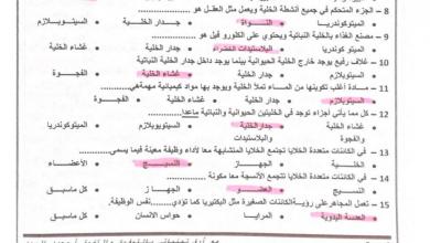 Photo of صف رابع فصل أول علوم أسئلة مراجعة