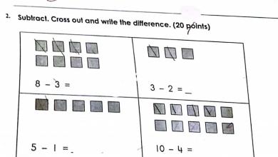 Photo of صف أول فصل أول امتحان رياضيات منهج إنجليزي