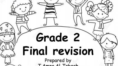 Photo of مراجعة نهائية لغة إنجليزية صف ثاني فصل أول