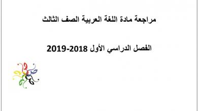 Photo of لغة عربية صف ثالث مراجعة عامة فصل أول