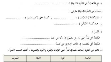 Photo of فصل أول لغة عربية نموذج امتحان  صف رابع