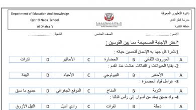 Photo of صف خامس دراسات اجتماعية مراجعة شاملة فصل أول