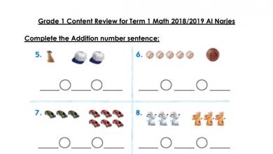 Photo of أوراق عمل رياضيات منهج إنجليزي صف أول فصل أول