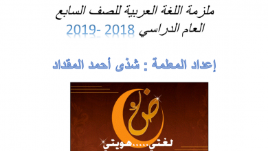 Photo of ملزمة لغة عربية صف سابع فصل أول
