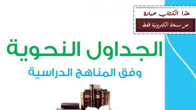Photo of كتيب الجداول النحوية شامل لغة عربية