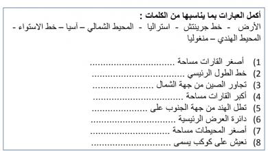 Photo of مراجعة عامة دراسات اجتماعية صف رابع فصل أول