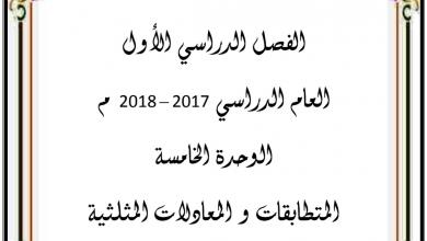 Photo of صف ثاني عشر رياضيات الوحدة الخامسة
