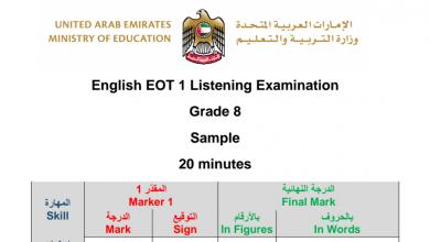 Photo of ثامن لغة إنجليزية نموذج امتحان استماع