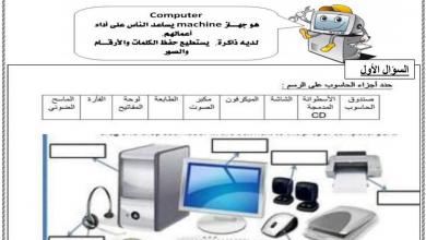 Photo of ثالث علوم ورق عمل أساسيات الحاسوب