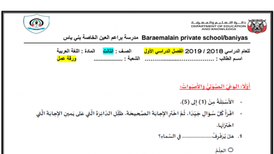 Photo of ثالث لغة عربية أوراق عمل شاملة