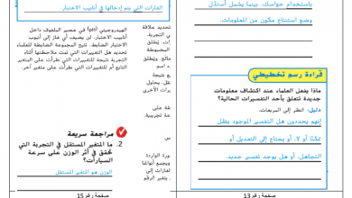 Photo of خامس علوم حل الوحدة الأولى