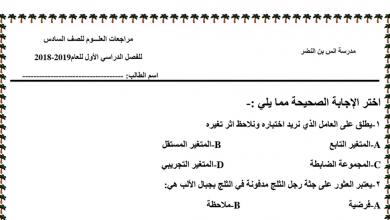 Photo of سادس علوم مراجعة عامة
