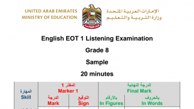 Photo of نموذج امتحان استماع لغة إنجليزية صف ثامن فصل أول